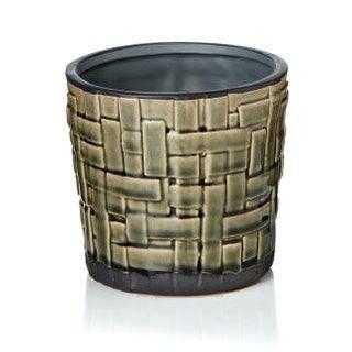 5-inch x 4.75-inch Ceramic Weave Pot