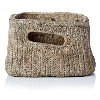 7.29-inch x 9.45-inch x 6.1-inch Burlap Rectangle Pot with Handle