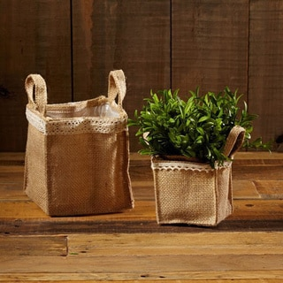 3-inch x 3-inch Burlap Square Pot Holder (Pack of 6)