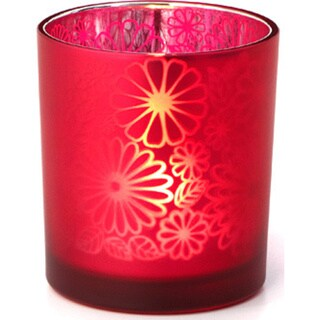 3-inch x 3-inch x 3.25-inch Frosted Candle Holder Large (Pack of 6)
