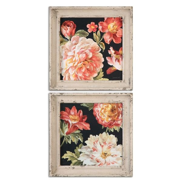 Uttermost Grace Feyock 'Mixed Floral IV Crop' Framed Canvas Print Art (Set of 2)