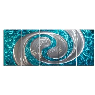 'Ocean Swirl' Metal Wall Art