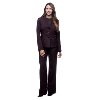 Evan Picone Women's Melange Notch-collar Pant Suit
