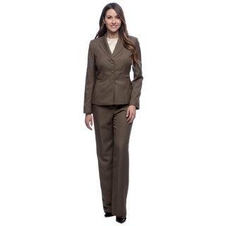 Evan Picone Women's Loden Tonal Stripe Pant Suit