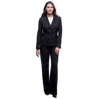 Evan-Picone Pant Suit 2-button Peak Collar Jessica Crepe