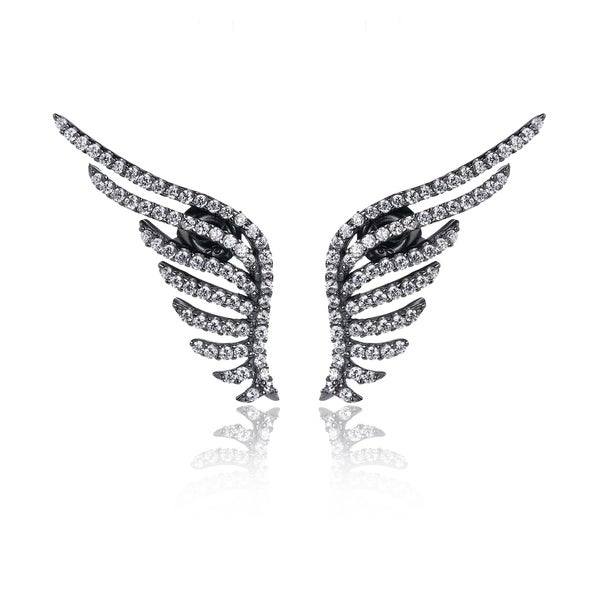 Blue Box Jewels Angel Wing Earrings