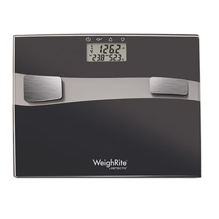 Detecto WeighRite 5-in-1 Black Glass Body Composition Bathroom Scale