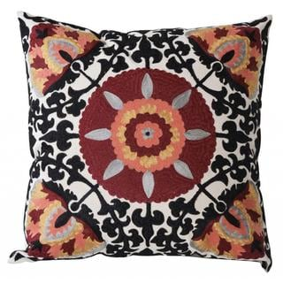 Hayworth Embroidered Down and Feather Filled Throw Pillow