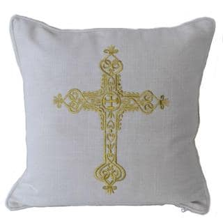Elizabeth Embroidered Cross Pillow