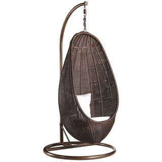 Rattan Hanging Chair and Stand