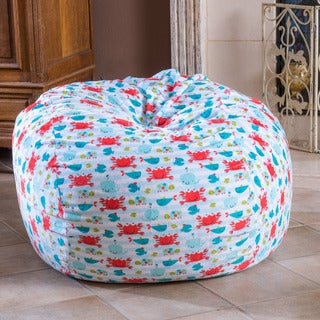 Christopher Knight Home Riley Faux Suede 3-foot Go Fish Lounge Beanbag Chair
