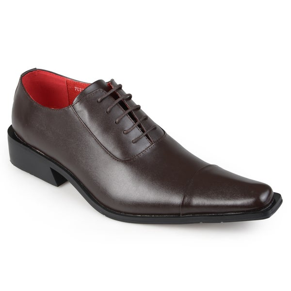 Vance Co. Men's Leather Lace-up Dress Shoes