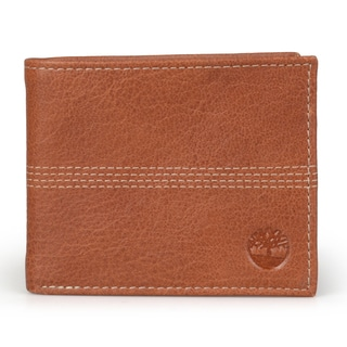 Timberland Men's Genuine Leather Bifold Banker Wallet