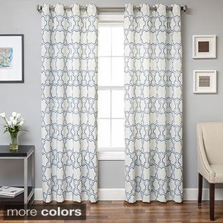 Geometric Design Grommet Top Curtain Panel
