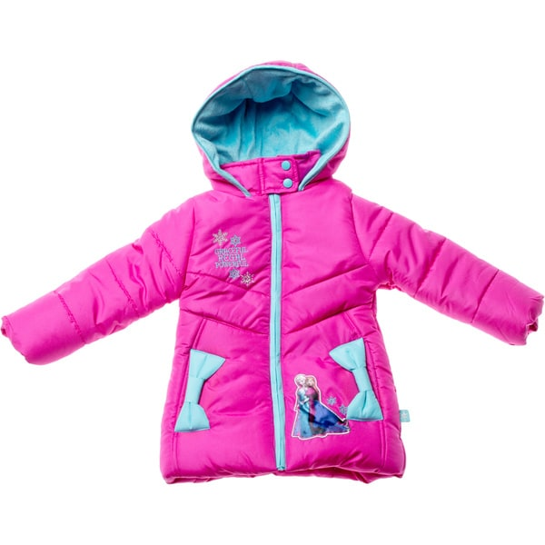 Disney Girl's Frozen Berry Pink Heavyweight Jacket (Sizes 4 - 6X)