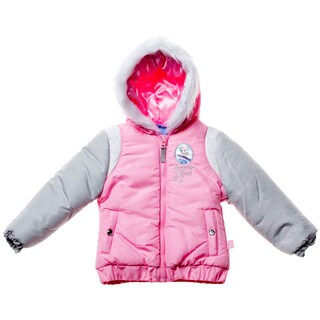 Disney Girl's Frozen Light Pink Heavyweight Jacket (Sizes 4 - 6X)