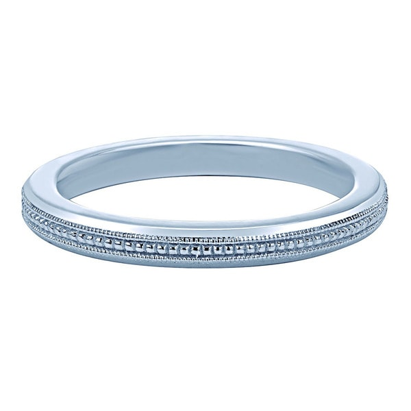 Sterling Silver Milgrain Stackable Fashion Ring