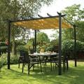 English Garden Aluminum Free-standing Retractable Canopy
