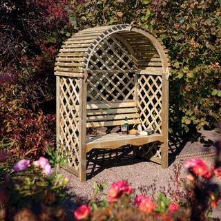 English Garden Wood Seated Arbor