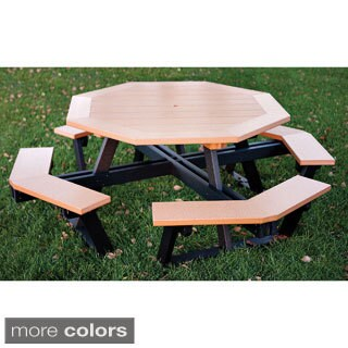 Eagle One Commercial-grade Greenwood Octagon Picnic Table with Two-Tone Finish
