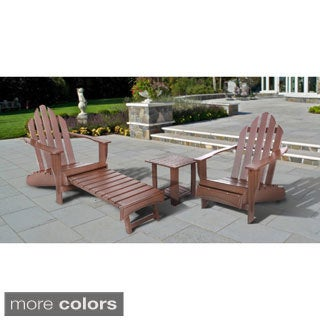 Eagle One Commercial-grade Greenwood Adirondack Chair with Pull-out Leg Rest (3-piece Set)