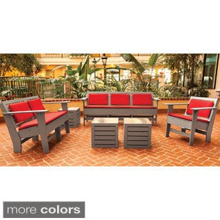 Eagle One Commercial-grade Greenwood Berlin Driftwood 6-piece Lounge Set with Sunbrella Cushions