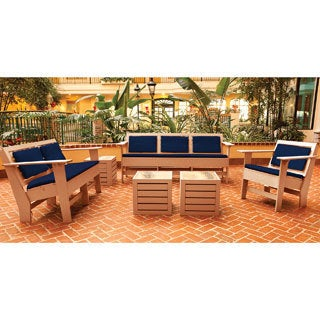 Eagle One Commercial-grade Greenwood Berlin Cedar 6-piece Lounge Set with Sunbrella Cushions