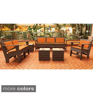 Eagle One Commercial-grade Greenwood Berlin Brown 6-piece Lounge Set with Sunbrella Cushions