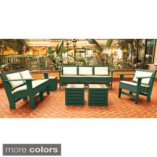 Eagle One Commercial-grade Greenwood Berlin Green 6-piece Lounge Set with Sunbrella Cushions