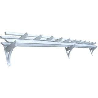 Aluminum White 18-inch Wall Pergola