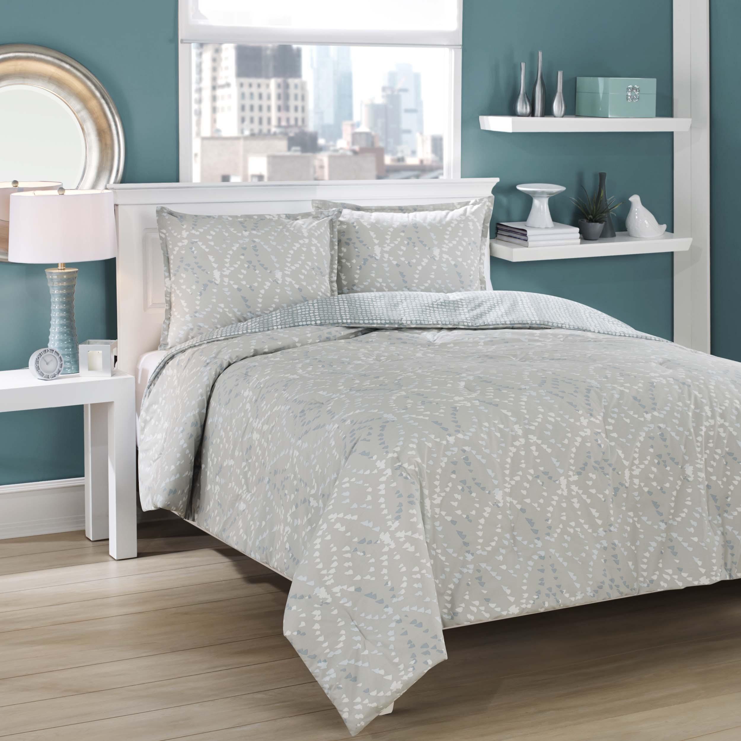 City Scene City Loft Ovaloid Cotton Reversible 3-piece Comforter Set