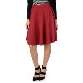 Hailey Jeans Co. Junior's Solid Color A-line Midi Skirt