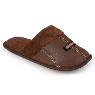 Vance Co. Men's Fleece-lined Backless Slippers