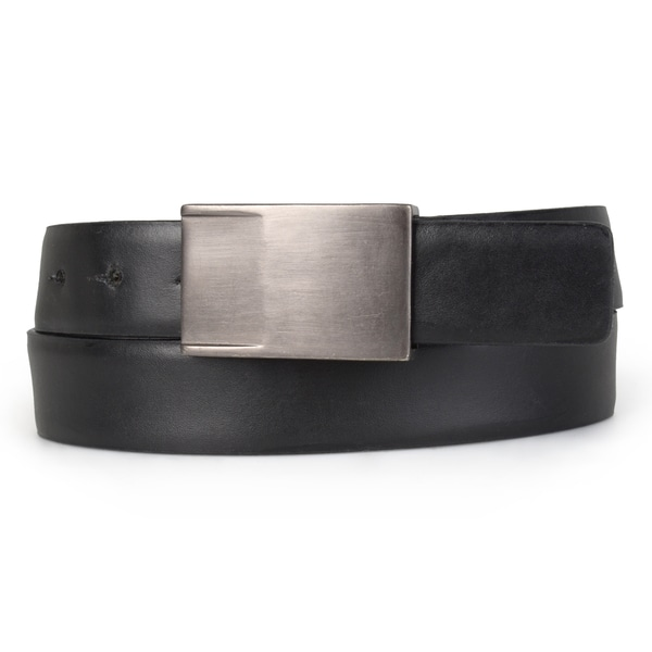 Calvin Klein Men's Genuine Leather Sliding Buckle Belt