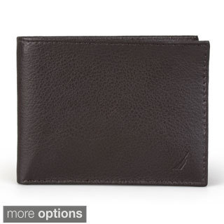 Nautica Men's Pebble Bifold Passcase Wallet