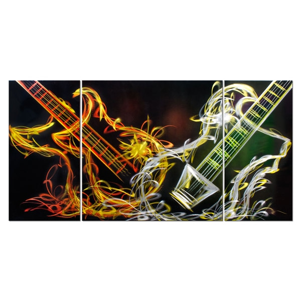 Electric Soul' 3-panel Metal Wall Art 14626962