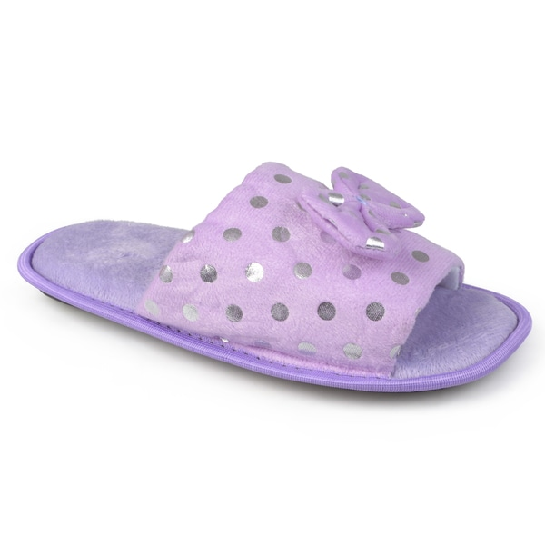 Journee Collection Women's Polka-dot Open Toe Slippers