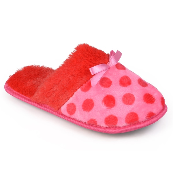 Journee Collection Women's Polka-dot Backless Slippers