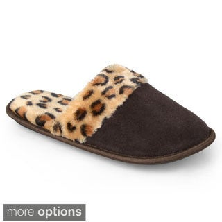 Journee Collection Women's Cheetah Print Backless Slippers