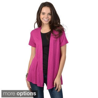 Hailey Jeans Co. Junior's Short-sleeve Open Cardigan