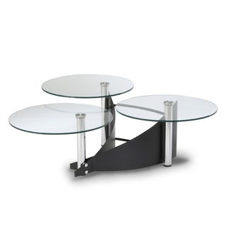 Somette 3-tier Glass Cocktail Table