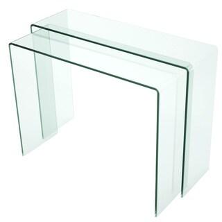 Nested Bent Glass Sofa Table