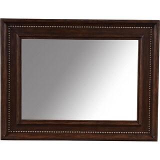 Landscape Brown Beveled Frame Mirror