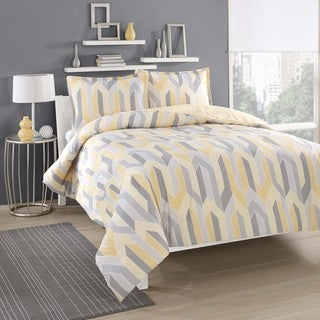 City Loft Limoncello Yellow 3-piece Duvet Cover Set