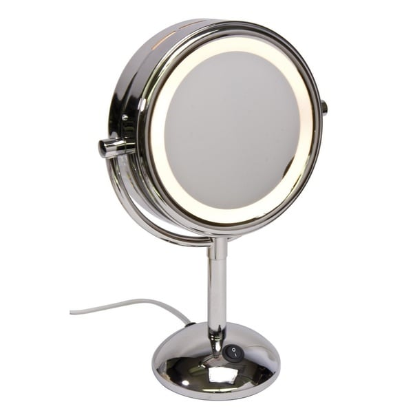 Harry D Koenig 8-inch Round Lighted Vanity Mirror