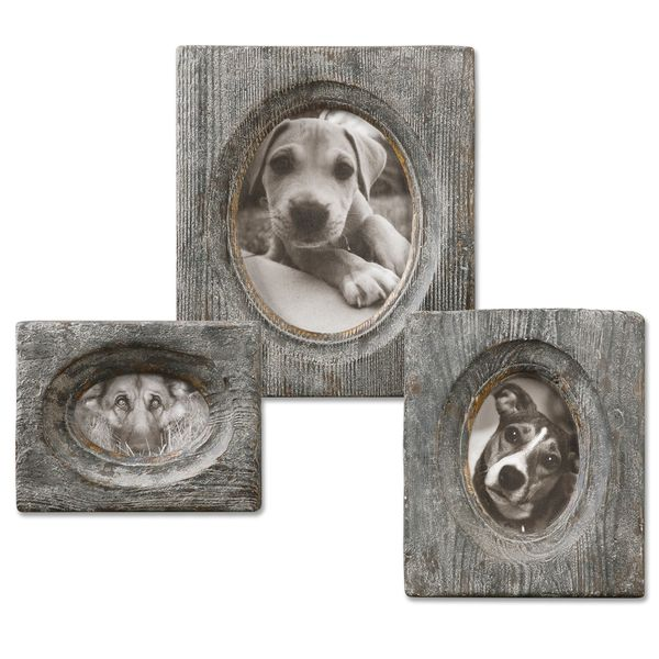 Uttermost Leonie Ivory Wooden Photo Frames (Set of 3)