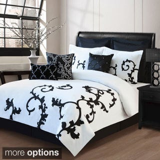 Journee Collection 9-piece Embroidered Comforter Set