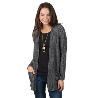 Hailey Jeans Co. Junior's Two-tone Long Sleeve Cardigan