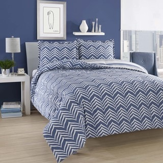 City Loft Ziggy Cotton Reversible 3-piece Comforter Set