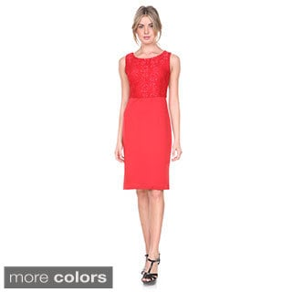 Stanzino Women's Two Tone Sleeveless Cocktail Dress